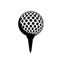 Golf tee and ball vector