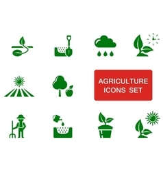 Green agriculture icon vector