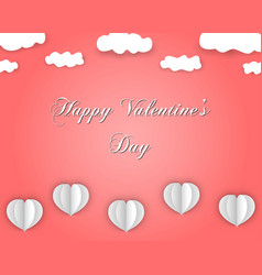 happy valentines day background in paper style vector image