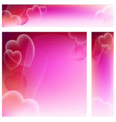 Heart website banners vector