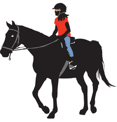 Horseback Riding vector image