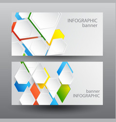 infographic digital horizontal banners vector image