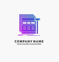 Internet page web webpage wireframe purple vector