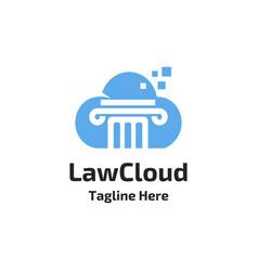 law firm cloud logo vector image
