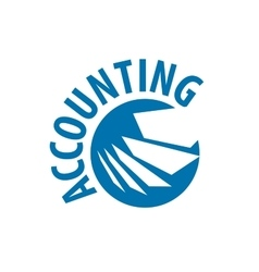 Logo accounting vector