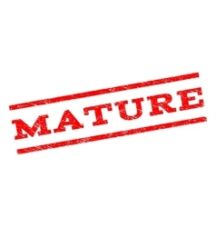 Mature Watermark Stamp vector