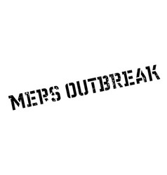 Mers outbreak rubber stamp vector