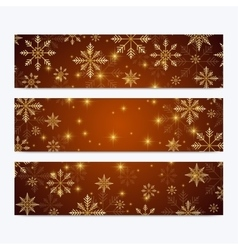 Modern Happy New Year set of banners vector