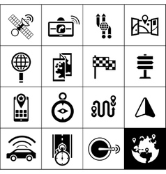 Navigation Icons Black vector