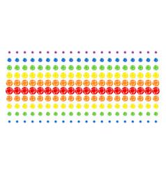 network shape halftone spectral array vector image