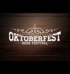 oktoberfest with typography lettering vector image