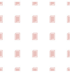 paper icon pattern seamless white background vector image