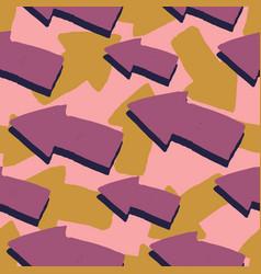 pink arrow seamless pattern cute arrows pattern vector image