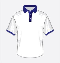 Polo majica bela teget kragna resize vector