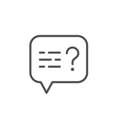 question message line outline icon vector image