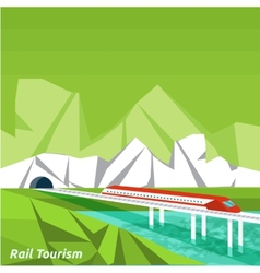 Rail tourism vector image