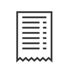 Receipt online shopping line style icon editable vector