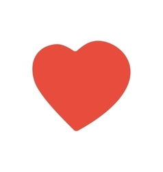 red heart valentine day icon vector image