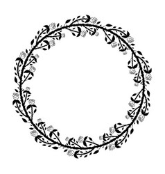 round frame with black roses and thorns vector image