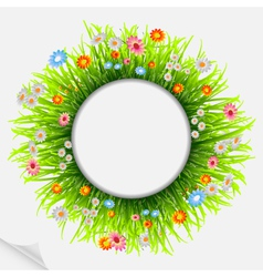 round natural frame vector image