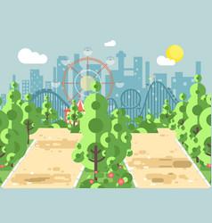 Scene landscape alley vector