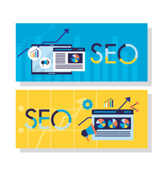 search engine optimization vector image