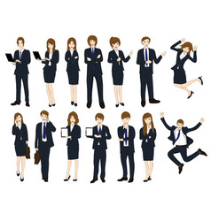 set cartoon business people no1 vector image