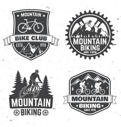 set of mountain bikings clubs vector image