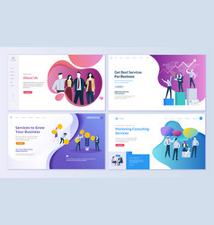 Set of web page design templates vector