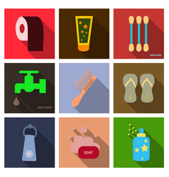Simple set of hygiene icons contains such icons vector