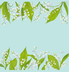 spring and summer floral frame holidays decoration vector image