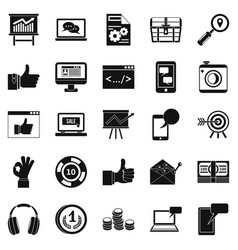 strides icons set simple style vector image
