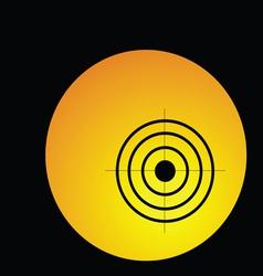 Target in circle vector