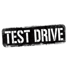 test drive sign or stamp vector image