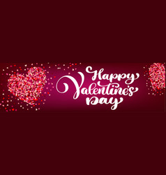 text lettering happy valentines day banners vector image