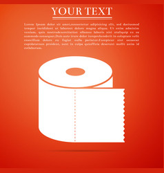 toilet paper roll icon on orange background vector image