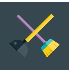 Toilet plunger and brush vector