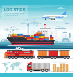 transport industry concept flat style vector image