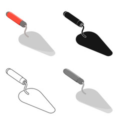 trowel icon in cartoon style isolated on white vector image