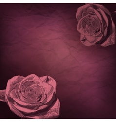 Vintage rose flowers vector