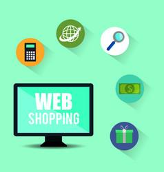 web shopping marketing icon vector image