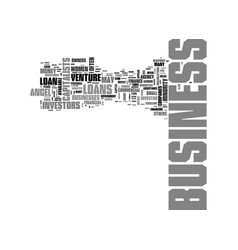 Who gives business loans text word cloud concept vector