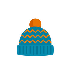 winter hat icon flat style vector image