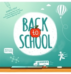 Back to school poster education background vector image vector image