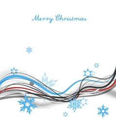 Christmas background with snow flakes lines and vector image vector image
