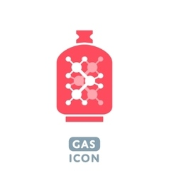 Gas icon vector image