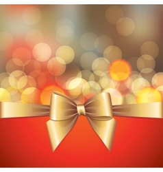 gold blurred lights and bow vector image