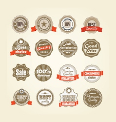 Shopping labels collection vector image vector image