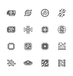 Simple electronics icons vector