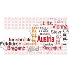austria map vector image
